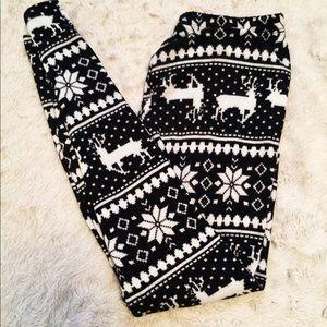 Pants - ❄️Fleece Lined Reindeer Leggings Small/Medium